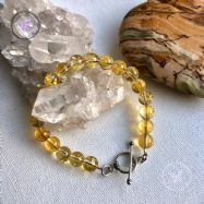 Citrine Healing Bracelet With Silver Toggle Clasp